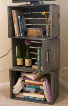 Diy wood crate shelves projects to calm the clutter effectively 47