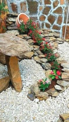Simple rock garden decor ideas for your backyard 06