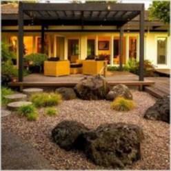 Simple rock garden decor ideas for your backyard 40