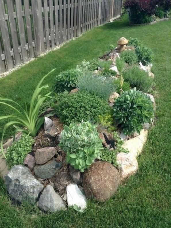 Simple rock garden decor ideas for your backyard 46