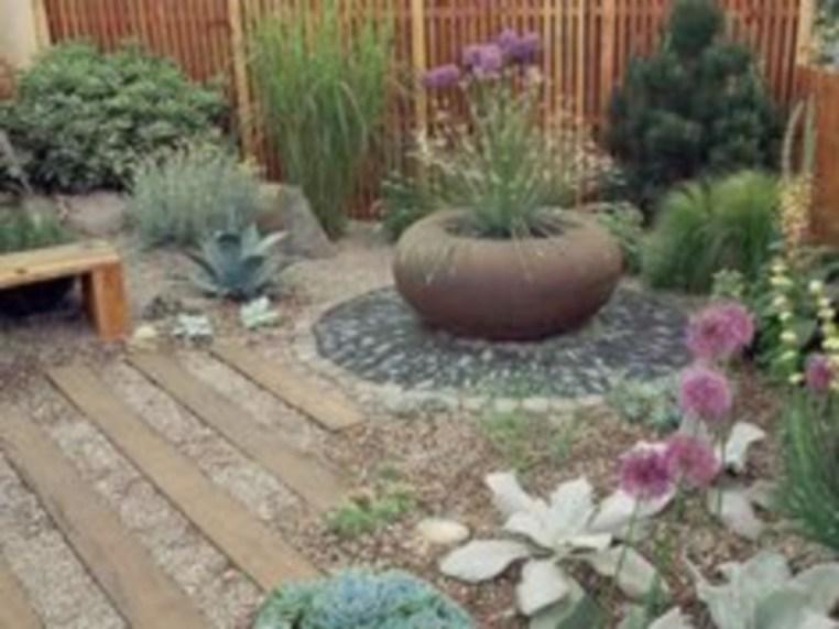 Simple rock garden decor ideas for your backyard 48
