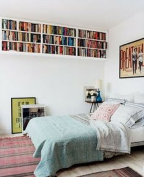 Smart and unusual book's storage ideas for book lovers 06
