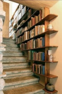 Smart and unusual book's storage ideas for book lovers 31
