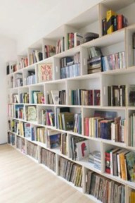 Smart and unusual book's storage ideas for book lovers 37