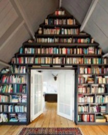 Smart and unusual book's storage ideas for book lovers 46