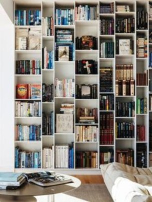 Smart and unusual book's storage ideas for book lovers 49