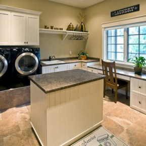 Beautiful and functional small laundry room design ideas 18