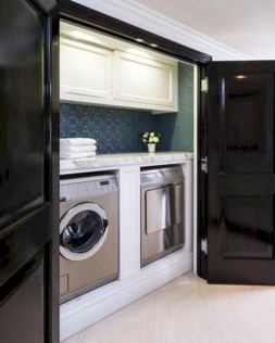 Beautiful and functional small laundry room design ideas 22
