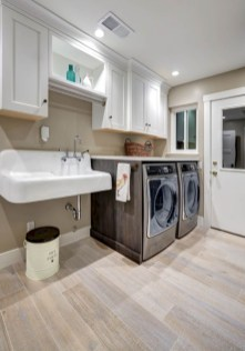 Beautiful and functional small laundry room design ideas 25