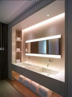 Built-in bathroom shelf and storage ideas to keep your bathroom organized 03