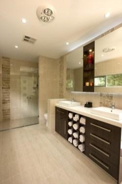 Built-in bathroom shelf and storage ideas to keep your bathroom organized 07