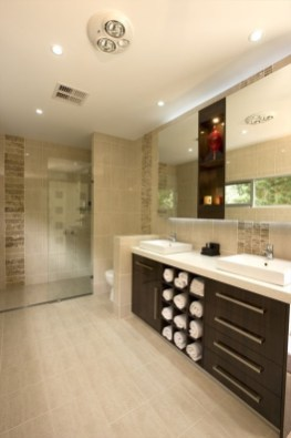 Built-in bathroom shelf and storage ideas to keep your bathroom organized 07