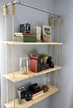 Built-in bathroom shelf and storage ideas to keep your bathroom organized 34