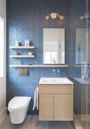 Built-in bathroom shelf and storage ideas to keep your bathroom organized 36