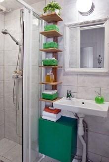 Built-in bathroom shelf and storage ideas to keep your bathroom organized 40