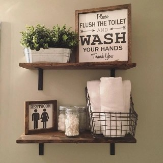 Built-in bathroom shelf and storage ideas to keep your bathroom organized 49
