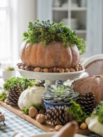 Charming rustic centerpieces that will fill up your tables 01