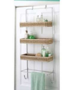 Hanging bathroom storage ideas to maximize your small bathroom space 20