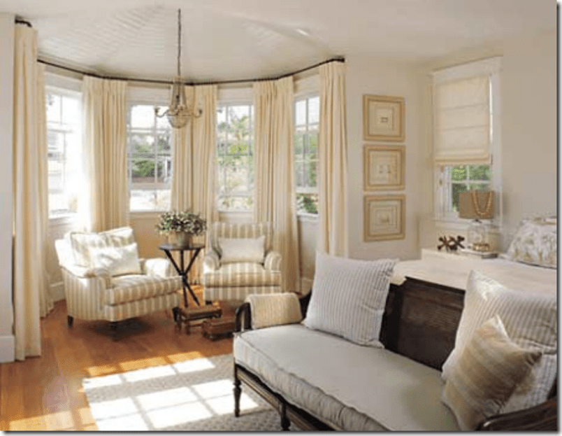 Bay Window With Two cozy armchairs