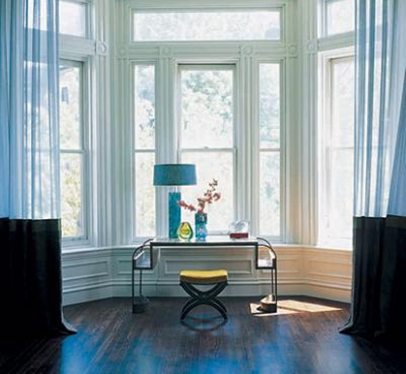Bay Window With Console Table