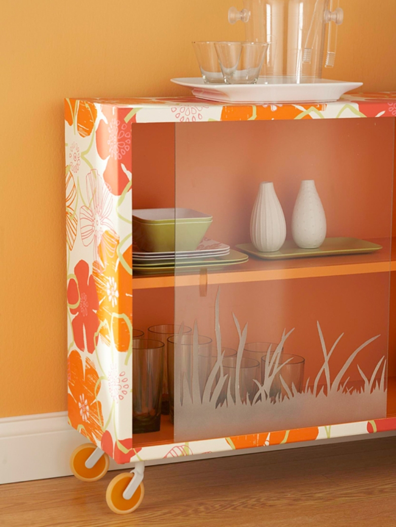 DIY Glass Front Sideboard