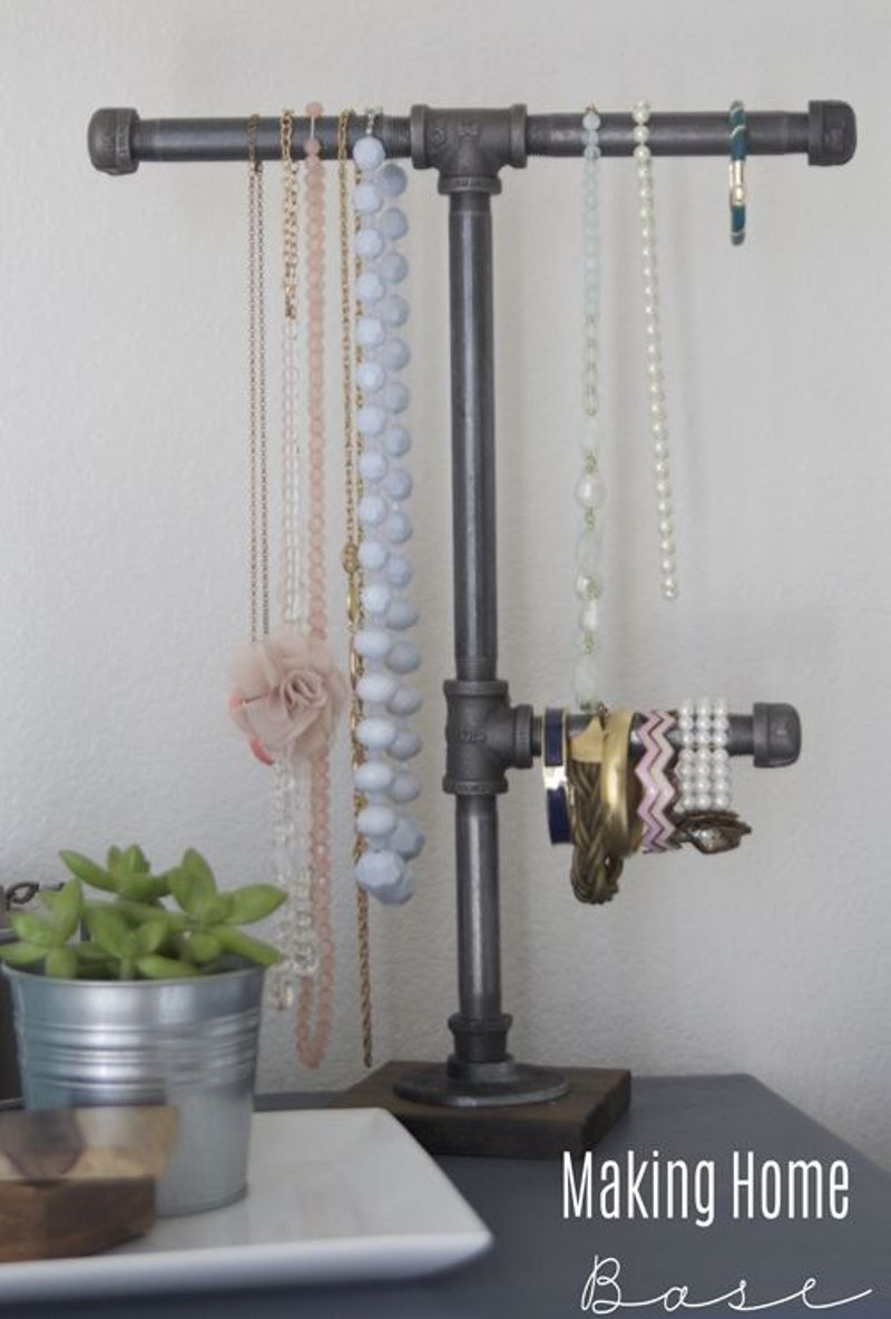 Industrial Pipe Jewelry Display
