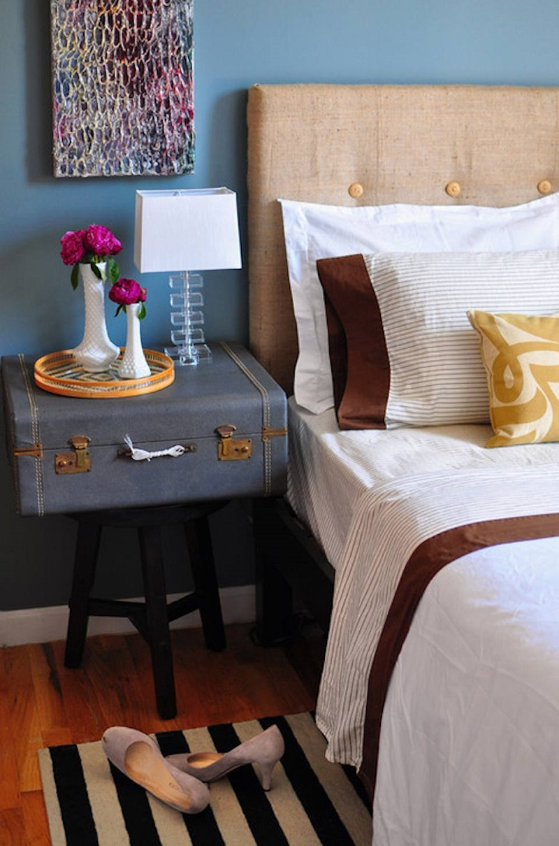 Instant Nightstand From Suitcase
