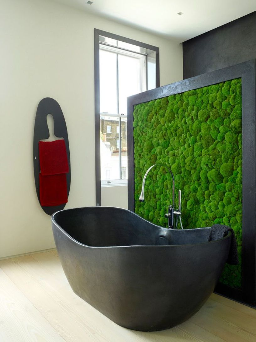 Moss Wall As Room Divider