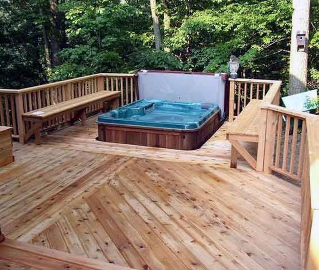 25 Best Backyard Hot Tub Deck Design Ideas For Relaxing Godiygo Com