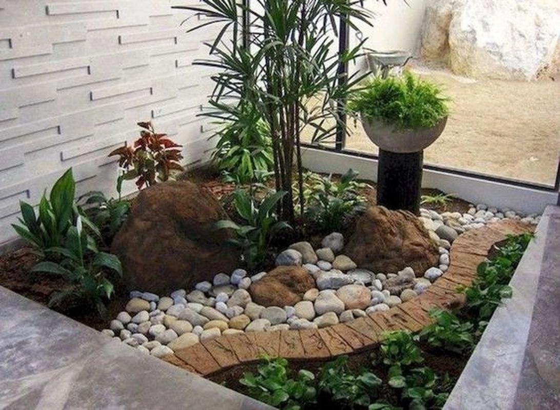 25 Beautiful Front Yard Rock Garden Landscaping Design ... on Small Garden Ideas With Rocks id=88886