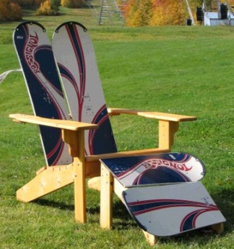 Snowboard Deck Chair