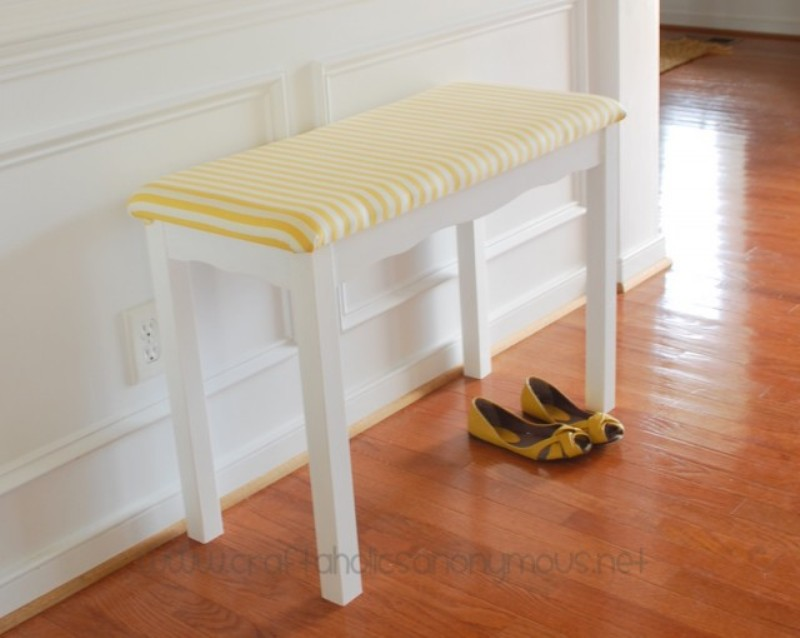 A Comfy Bench With Upholstery