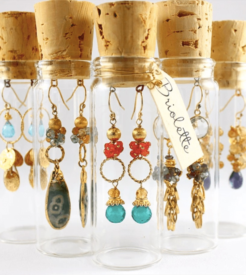 Glass Vial Earring Holders
