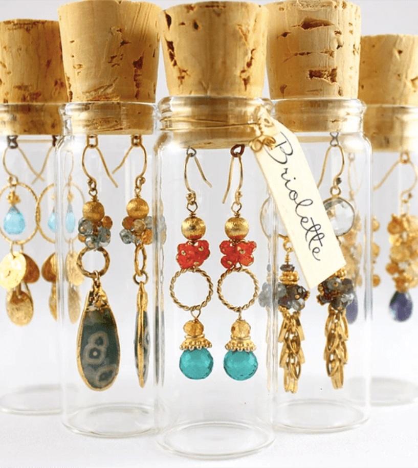 Glass Vial Earring Holders