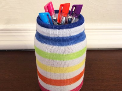 DIY Pen Holder With Mason Jar That Will Makes Your Day In The Office Full Of Joy