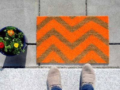 Diy colorful doormats that will spruce up your front door