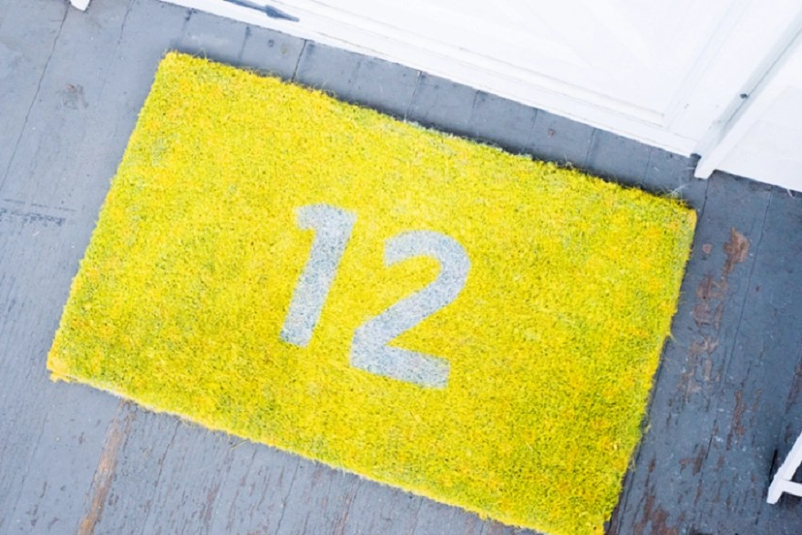 Doormat with your house number