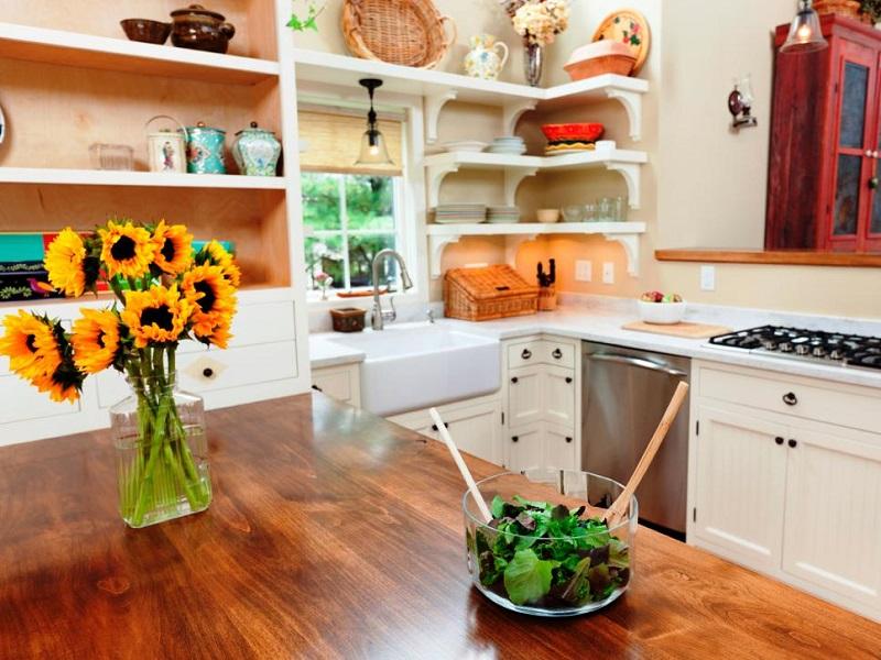 Apply wood countertops