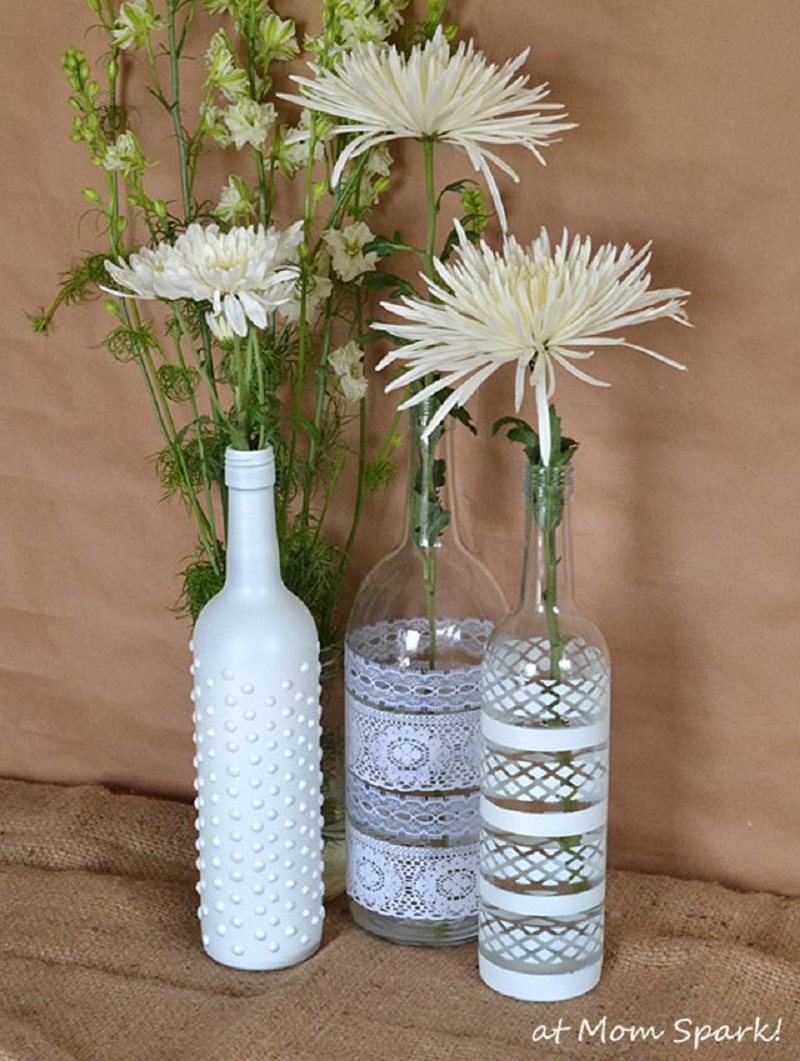 Boho centerpiece Unexpectedly Aesthetic DIY Wine Bottle Crafts That Magically Shining