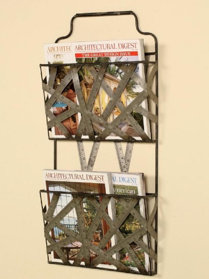 Cool ruler magazine rack