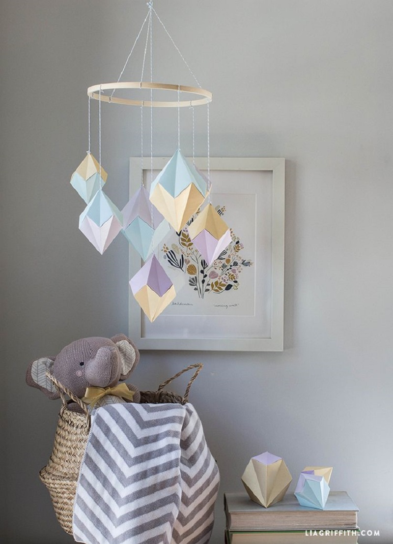 Geode mobile DIY Wonderful Baby Mobile Ideas That Sweet For Any Nursery Style