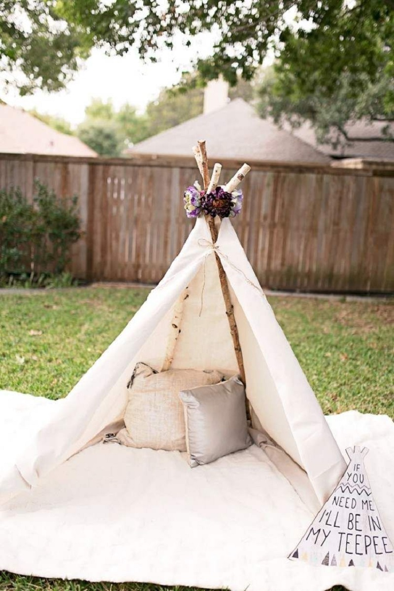 Glamping teepee DIY Wild Teepee Ideas That You And Your Kids Feel So Funny To Stay