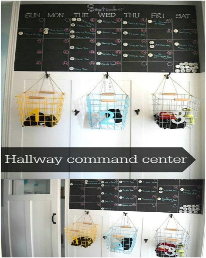 Hallway command centre and shoe organizer DIY Shoe Rack Ideas That Perfect For Your Family To Have Easy Shoes Hunting