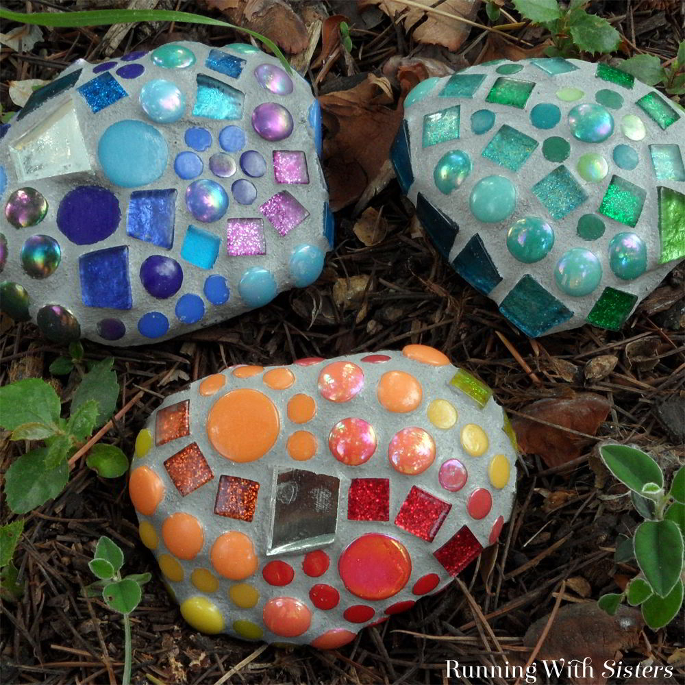Mosaic garden rocks Most-Wanted Mosaic Projects Where Any One Want To Try At Home