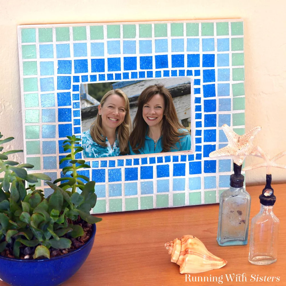 Mosaic photo frame Most-Wanted Mosaic Projects Where Any One Want To Try At Home