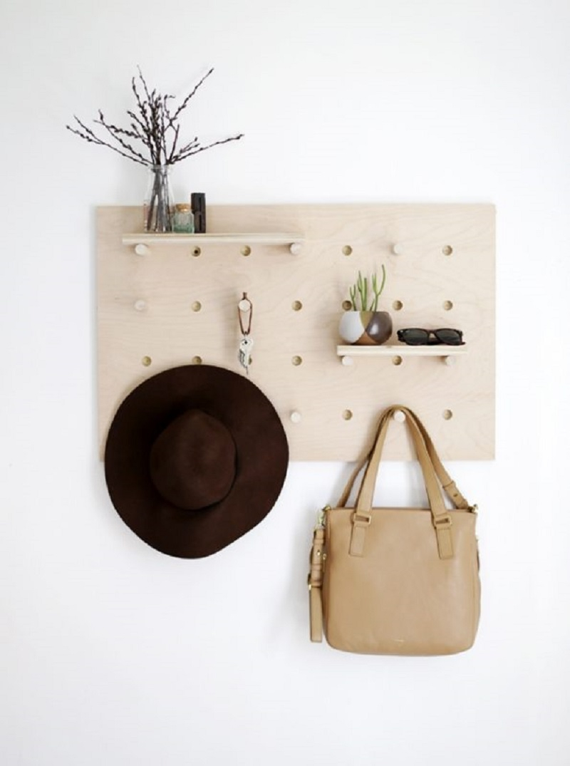 Pegboard DIY Hat Rack Ideas For Hat Collection To Keep Your Space Save