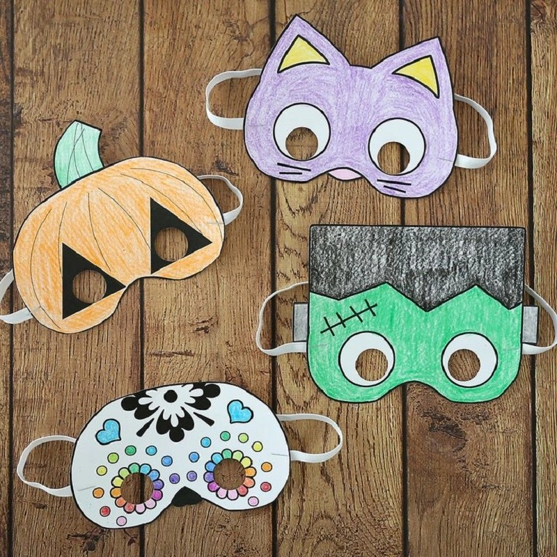 Printable diy masks