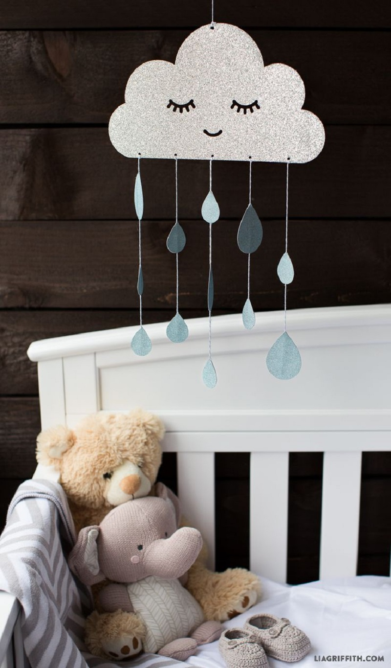 Rainy day mobile DIY Wonderful Baby Mobile Ideas That Sweet For Any Nursery Style