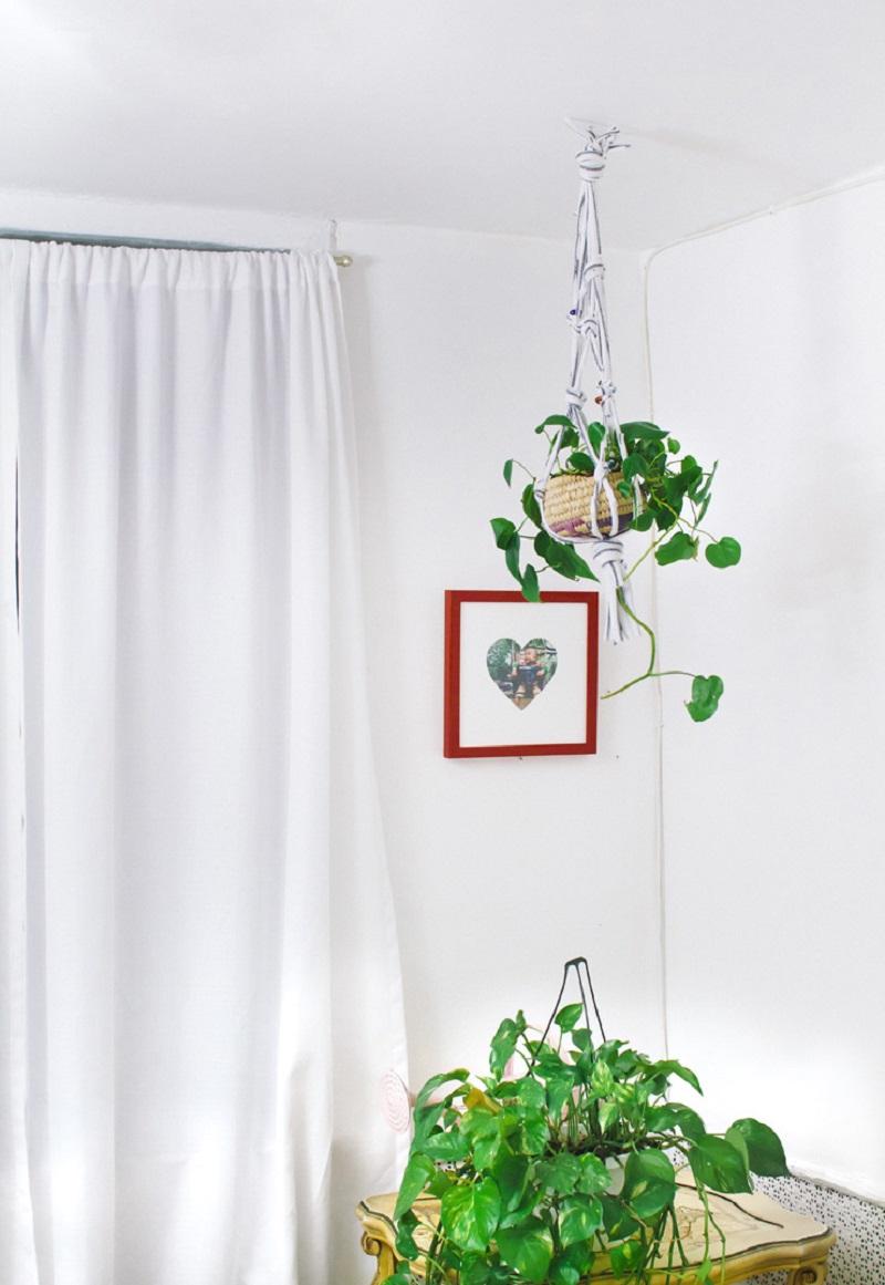 T-shirt hanging planter