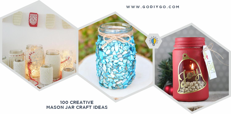 100 Creative Mason Jar Craft Ideas Godiygo Com